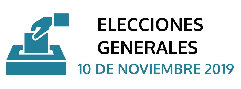 ELECCIONES GENERALALES  – 10 DE NOVIEMBRE